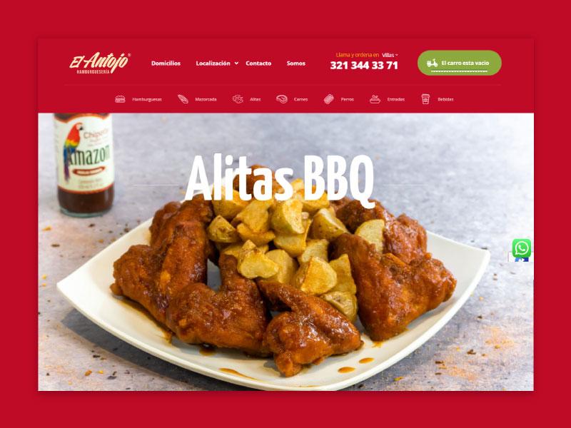Imagen de la página web de El Antojo