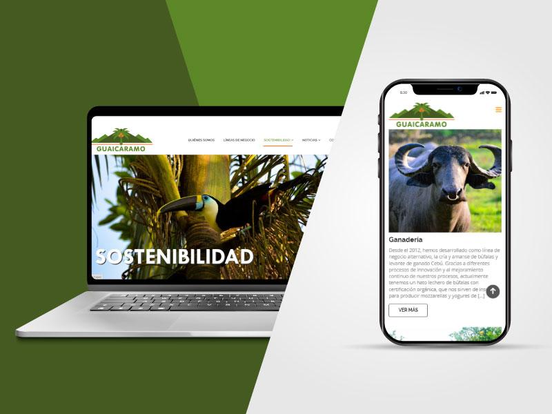 Imagen de la página web de Guaicaramo