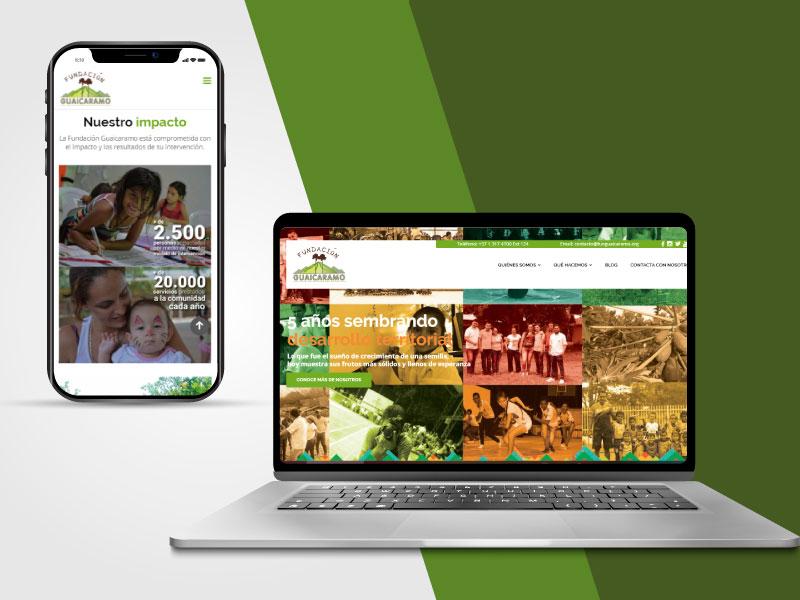 Imagen de la página web de la Fundación Guaicaramo
