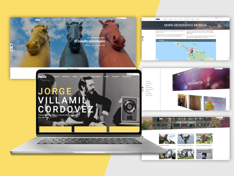 Imagen de la página web de Jorge Villamil