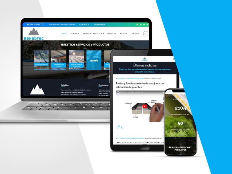 Imagen de la página web de Rehabtec