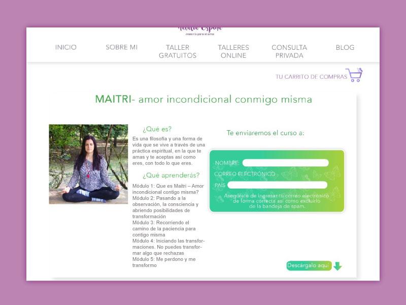 Imagen del TAller Matri la página web Maestría para el alma