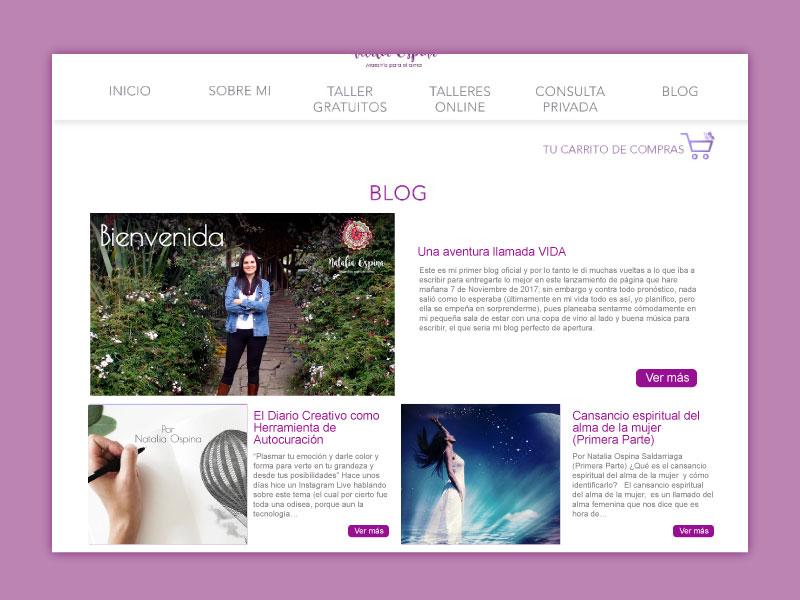 Imagen del blog la página web Maestría para el alma